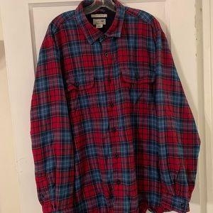 Vintage L.L. Bean Fleece Lined Flannel Sz XL